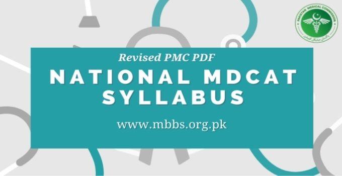 National MDCAT Syllabus