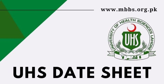 UHS Date Sheet